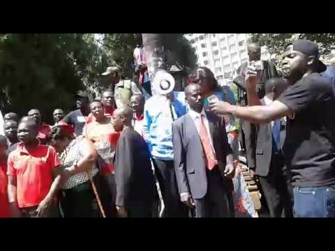 Tsvangirai Addresses MDC-T Protesters in Harare
