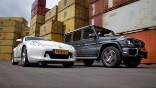 Mercedes G63 AMG vs. Nissan 370Z - English subtitled