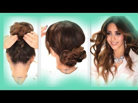 ★3 EASY OverSlept HAIRSTYLES | SCHOOL Braid + Curls +  Messy Bun  Hairstyle