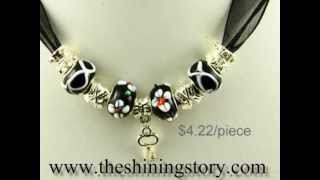 Wholesale Pandora style charm necklaces and finger rings with big whole beads, how to buy wholesale