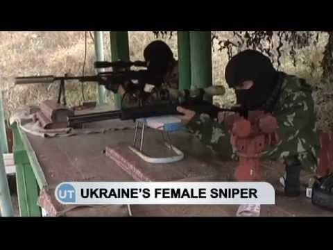 Ukraine's Female Sniper: War widow prepares to combat Russian invasion of east Ukraine