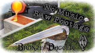 """No Music"" Casting a Bronze Dagger From The Game Skyrim (Valdr's Lucky Dagger)(Start to Finish)"