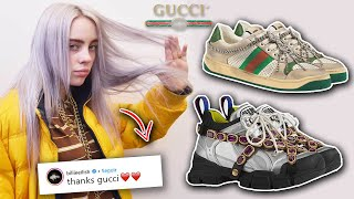 GUCCI REGALA los SNEAKERS MAS CAROS A BILLIE EILISH