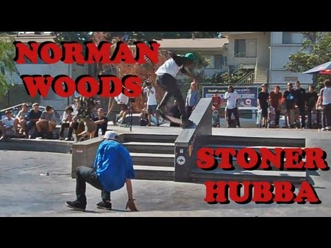 Nollie heelflip frontside nose slide down a hubba - Norman Woods