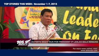 105.9 BALITA FM Top Stories (November 1-7, 2015)