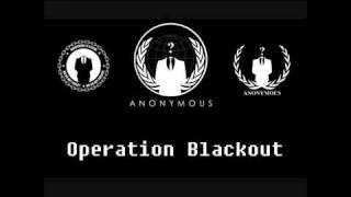 MEGAUPLOAD IS DOWN!! Due to S.O.P.A (Original Anonymous - Operation Blackout, warning video)