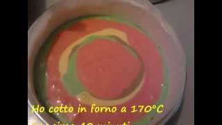 COME FARE TORTA E TORTINE COLORATE-RICETTA