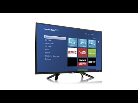 "Haier 32"" 720p HD LED Smart TV with BuiltIn Roku"