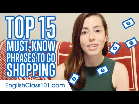 Top 15 Must-Know Phrases to Go Shopping in English