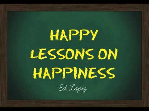 Happy Lessons On Happiness - Ed Lapiz video