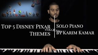Top 5 Disney Pixar Songs/Themes (Monsters inc/Toy Story/UP) - Piano Medley