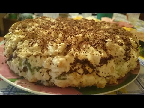Желейный торт из крекера