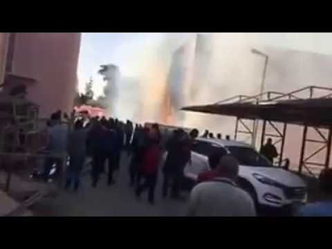 فيديو جزء من الحريق الذى نشب اليوم فى ديكوات قناه بانوراما فوود