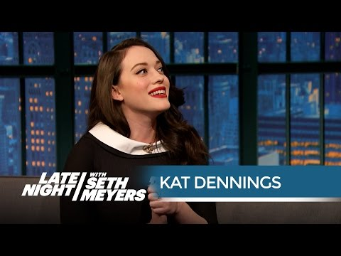 Kat Dennings Wants the 2 Broke Girls to Get Rich - Late Night with Seth Meyers