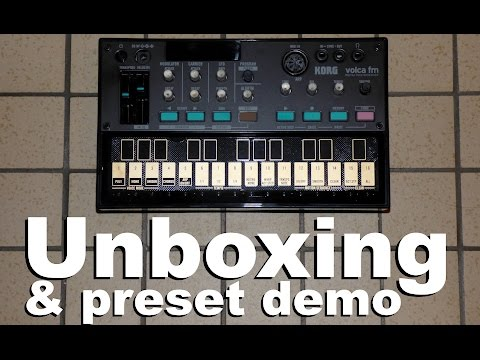 Korg Volca FM unboxing and preset demo