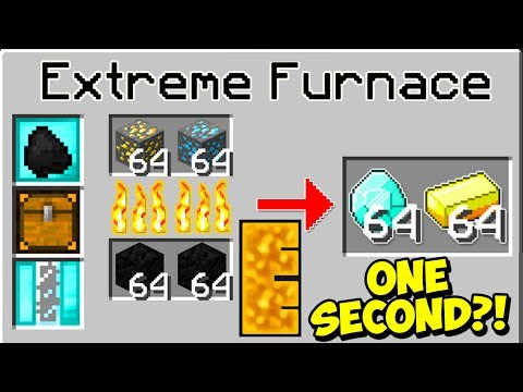 THE FASTEST FURNACE IN MINECRAFT?! | Minecraft Mods (WORLD RECORD)