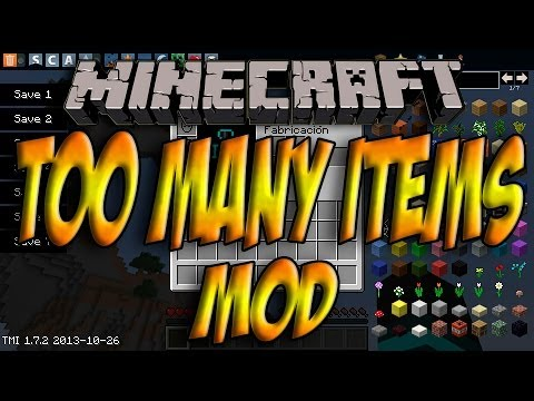 Minecraft 1.7.4 - Como Instalar TOO MANY ITEMS MOD - ESPAÑOL [HD] 1080p