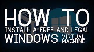 HOW TO: FREE WINDOWS 7 VIRTUAL MACHINE (LEGAL METHOD)