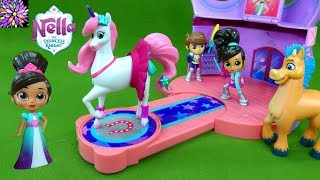 Nella the Princess Knight Toys Trinket's Sparkle Stables Night Horse Princess Toys Girls Toy Videos