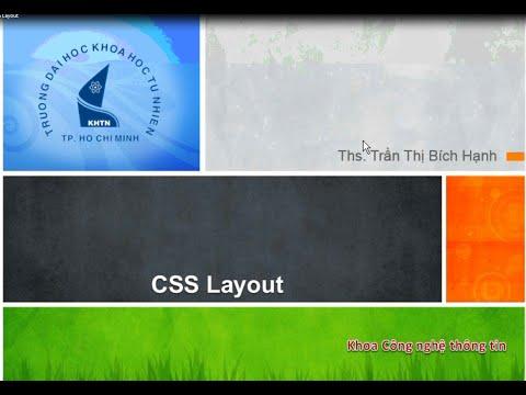 Phát triển ứng dụng Web - Bài 05: CSS Layout