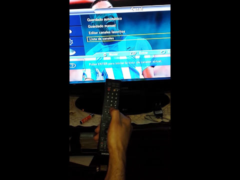 configuracion de canales de tv samsung con mando antiguo
