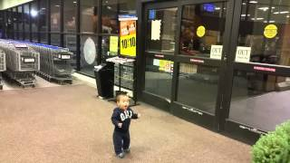 First time reaction to automatic sliding doors