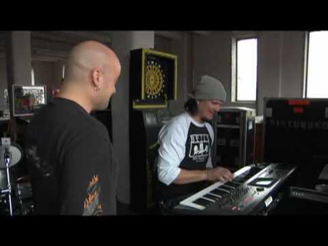Disturbed - Dan Playing Piano in the Studio Asylum