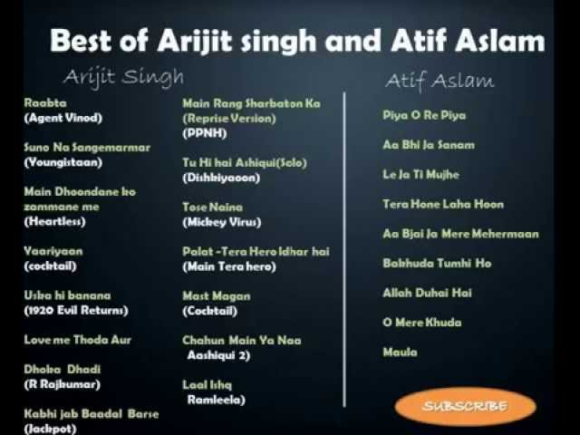 Best of Arijit Singh & Atif Aslam (24 Hit Songs)