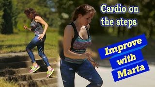 Cardio on the steps - Improve with Marta