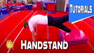 Gymnastics and Trampoline Tutorials How To Handstand Properly