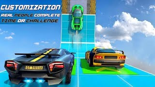 Car driving GT stunts ramp #level #6 #7 #8 extreme impossible tracks