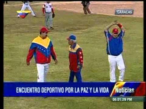 Maduro encabeza encuentro deportivo junto al ministro Antonio Álvarez en Caracas
