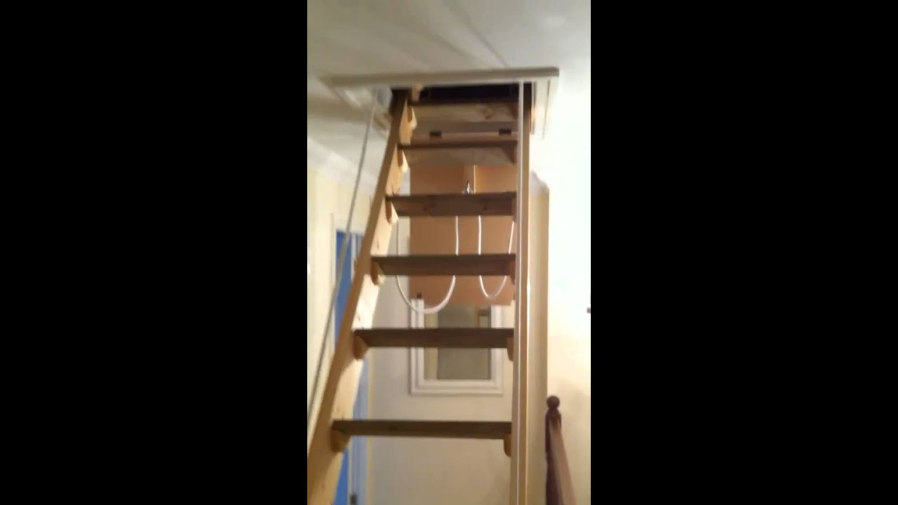 Disappearing Attic Stairs. Jamie S Loft Ladder Youtube