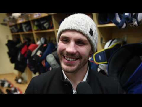 In The Locker Room - Casey Cizikas