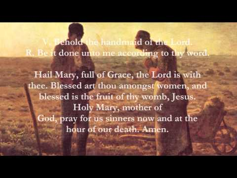 Catholic Prayers - Angelus, English