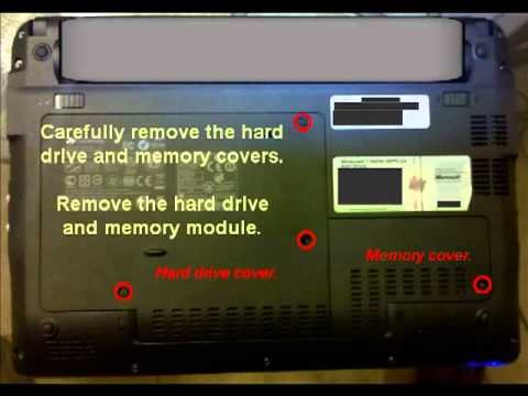 Clearing the BIOS of Gateway Netbook