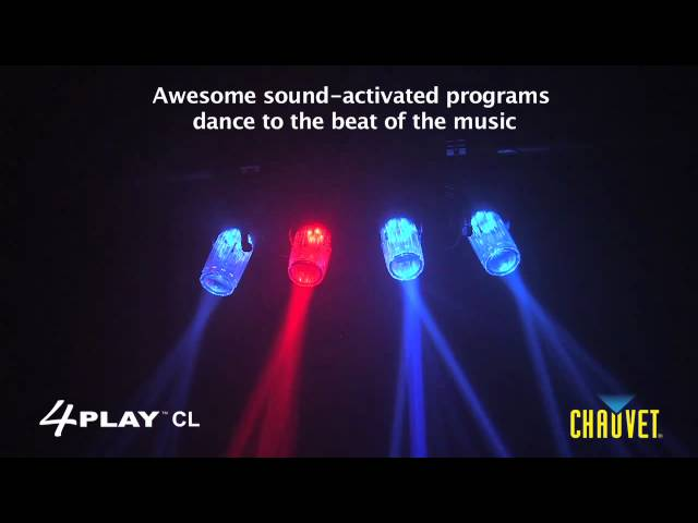 Chauvet 4PLAY CL LED Moonflower Light with Clear Casing