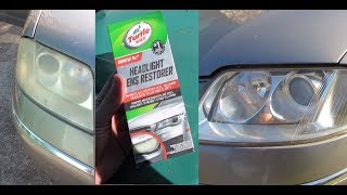 COMO PULIR FAROS CON TURTLE WAX en español (polishing headlights)
