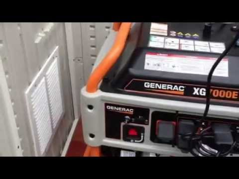 Generac 7000 XG series enclosed in a Suncast shed