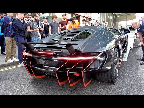 $2.5Million Lamborghini Centenario CAUSES CHAOS in London!