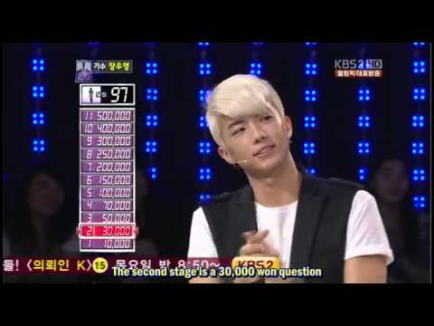 [Eng Sub] Wooyoung @ 1 vs 100 Quiz Show ( Part 1)