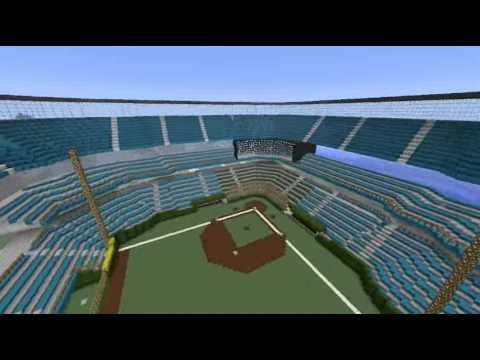 minecraft pe how to build a stadium