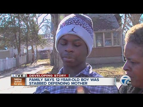 Son speaks after saving mom from assault in Detroit