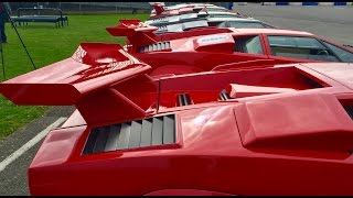 8 Lamborghini Countach on road and track