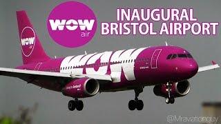 download lagu Wow Air A320 Inaugural Flight To Bristol Airport 13/5/16 gratis