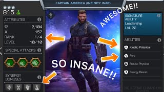How to use Captain America INFINITY WAR!! Marvel Contest of Champions