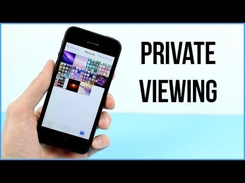PrivateViewing : Protéger les photos par un mot de passe