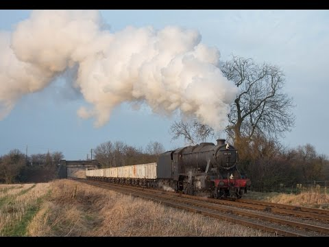 'Black' 8F 48624 Photo Charter at the Great Central Railway 21/22 January 2015