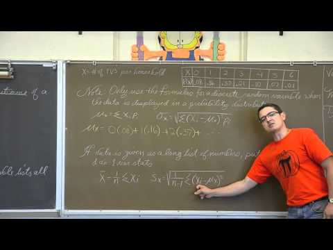 Discrete & Continuous Random Variables (Full Length)