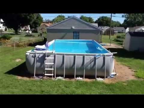 "Intex Rectangular Pools >> Intex Pool 16x32 - 52"". Update - YouTube"